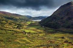Paisaje País de Gales Europa de Snowdonia Imágenes de archivo libres de regalías