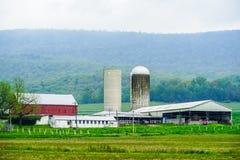 Paisaje pacífico del país en Pennsylvania fotografía de archivo