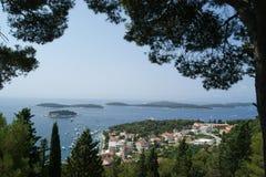 Paisaje/paisaje de Croacia Foto de archivo