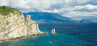 Paisaje panorámico crimeo cerca de Yalta Foto de archivo libre de regalías