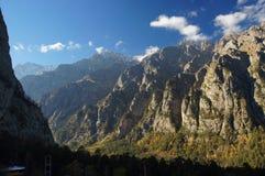 Paisaje panorámico hermoso de la montaña Imagen de archivo libre de regalías