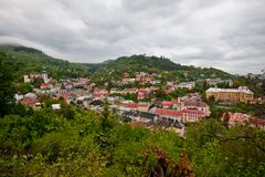 Paisaje para Banska Stiavnica Imagen de archivo