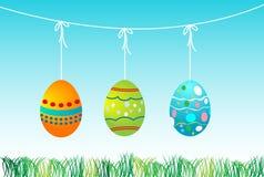 Paisaje para los huevos de Pascua stock de ilustración