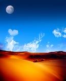 Paisaje perfecto del desierto Imagen de archivo libre de regalías