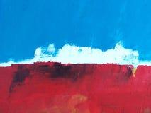Paisaje pintado/cielo + océano abstractos de la isla fotos de archivo