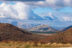 Paisaje pintoresco de la montaña Montañas de Dinaric, Bosnia y Herzegovina Foto de archivo