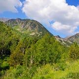 Paisaje pintoresco de la montaña, prado, pista de senderismo y beautifu imágenes de archivo libres de regalías