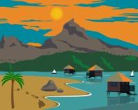 Paisaje plano en la isla de Hawaii Fotografía de archivo libre de regalías