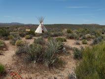 Paisaje plano en paseo del cielo de Grand Canyon con la tienda india Imagenes de archivo