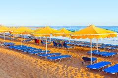 Paisaje, playa en un Crete imágenes de archivo libres de regalías