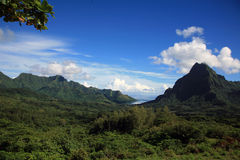 Paisaje Polinesia Fotos de archivo