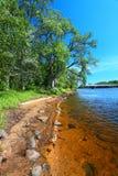 Paisaje Portage del río Wisconsin fotos de archivo