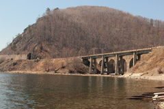 Paisaje, puente Foto de archivo