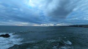 Paisaje, puesta del sol y playa almacen de video