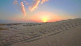Paisaje Qatar del desierto almacen de metraje de vídeo
