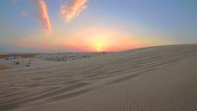 Paisaje Qatar del desierto metrajes