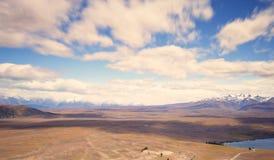 Paisaje que rodea el observatorio del Mt Juan, Nueva Zelanda Imágenes de archivo libres de regalías