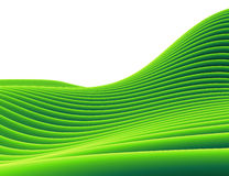 paisaje que se inclina del tubo verde 3d Imagen de archivo libre de regalías
