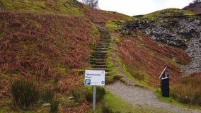 Paisaje que sorprende en las montañas del parque nacional Inglaterra del distrito del lago metrajes