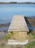 Paisaje rústico de madera del puente Fotografía de archivo libre de regalías