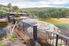 Paisaje real del parque nacional cerca de Sydney, Nuevo Gales del Sur, Aus Fotografía de archivo libre de regalías