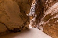 Paisaje rocoso de Petra antiguo, Jordania Fotos de archivo