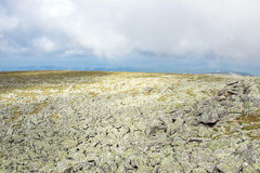 Paisaje rocoso en la meseta Río del campo de piedras Fotografía de archivo