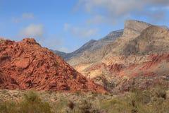 Paisaje rojo de la roca en el desierto de Nevada, los E.E.U.U. Foto de archivo libre de regalías