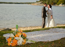 Paisaje romántico de la boda Imagen de archivo libre de regalías