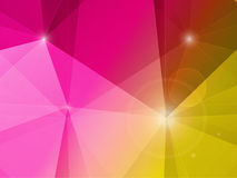 Paisaje rosado y amarillo del polígono del fondo abstracto del mosaico Fotografía de archivo