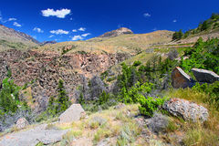 Paisaje rugoso de la montaña de Wyoming Imagenes de archivo