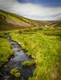 Paisaje rugoso de la montaña en la mina Escocia de Lecht Imágenes de archivo libres de regalías