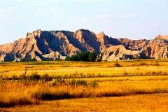 Paisaje rugoso del parque nacional de los Badlands imagen de archivo libre de regalías