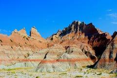 Paisaje rugoso del parque nacional de los Badlands fotos de archivo libres de regalías