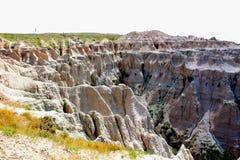 Paisaje rugoso del parque nacional de los Badlands fotografía de archivo libre de regalías