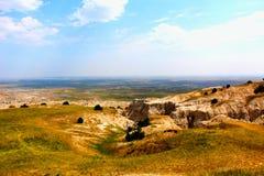 Paisaje rugoso del parque nacional de los Badlands fotos de archivo