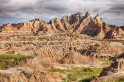 Paisaje rugoso en los Badlands Fotos de archivo