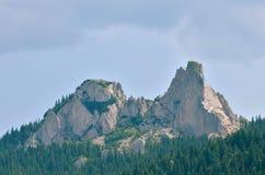 Paisaje rumano del pico de montaña Fotos de archivo