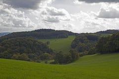 Paisaje rural alemán imagenes de archivo
