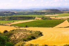 Paisaje rural cerca del Haro en La Rioja, España imagenes de archivo