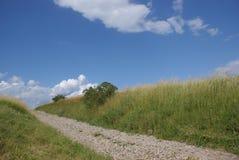 Paisaje rural con el camino Fotos de archivo