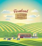 Paisaje rural con la granja