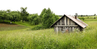 Paisaje rural de Europa del Norte Foto de archivo