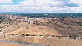 Paisaje rural de la visión aérea almacen de video
