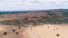 Paisaje rural de la visión aérea metrajes