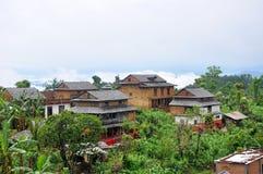 Paisaje rural de Nepal del plantador Fotografía de archivo