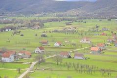 Paisaje rural de Niksic, Montenegro Imagenes de archivo