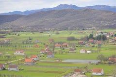 Paisaje rural de Niksic, Montenegro Imagen de archivo libre de regalías