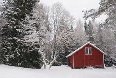 Paisaje rural del invierno Fotografía de archivo