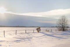 Paisaje rural del invierno Imagenes de archivo